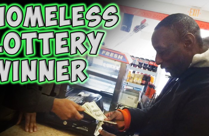 #GoodDeed Homeless Lottery Winner (Video by @MagicofRahat)