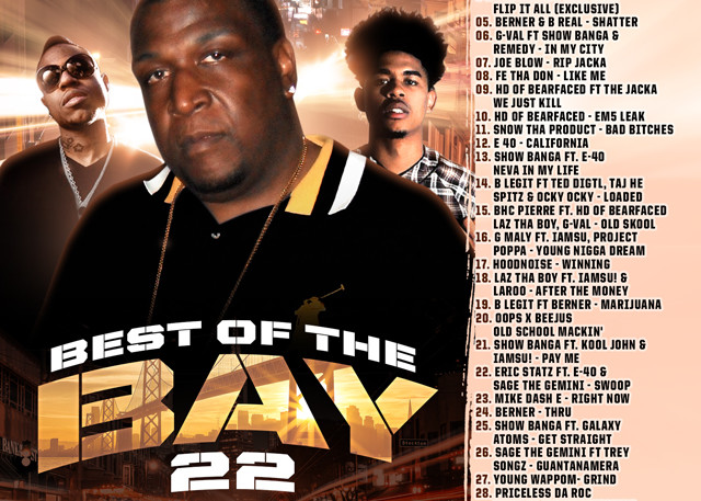 The Mixtape Mobb presents DJ Rah2k - Best of the Bay 22 [preview, for online use, JPEG]