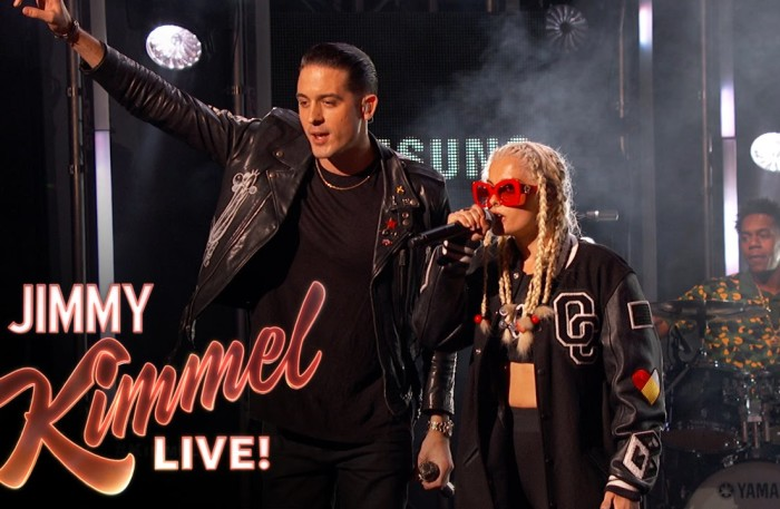 WTW Video G Eazy X BebeRexha Perform ME MYSELF I On Jimmy Kimmel Live