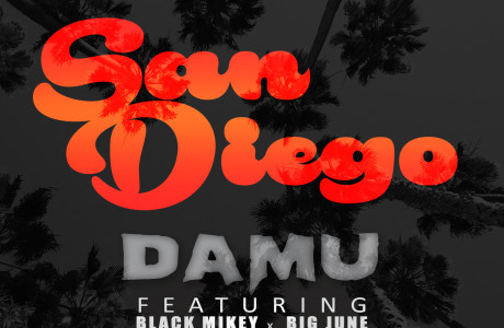 """San Diego"" by Damu featuring Big June and Black Mikey. Available 6/19 via Worryless Records."