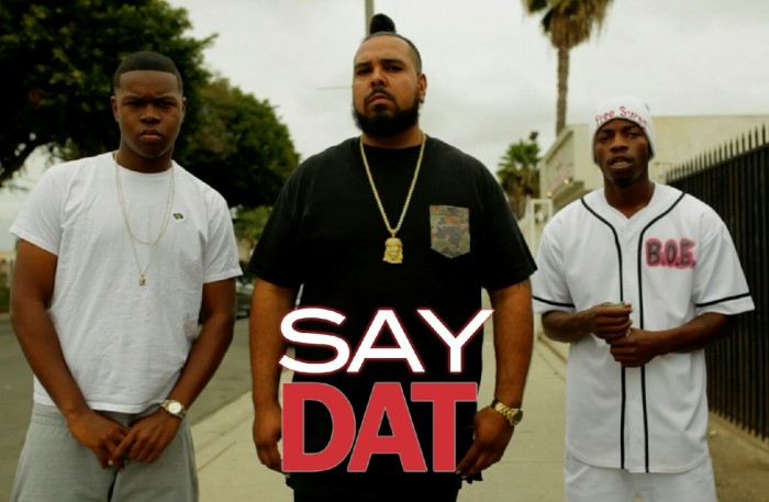 "Phonk P, Fred Blaze and Trap Star Hated on the set of ""Say Dat"" video shoot in Bompton, California."
